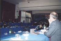 Riunione del Comitato Nazionale all'hotel Ergife. In primo piano, di tre quarti: Lorenzo Strick Lievers.