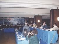 Riunione del Comitato Nazionale. Vista parziale dei convenuti, e del tavolo di presidenza.