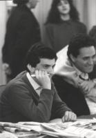 Giovanni Negri. In secondo piano: Francesco Rutelli.