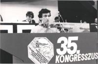 Giovanni Negri alla tribuna del 35° Congresso.