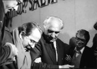 Marco Pannella e Domenico Modugno al 32° Congresso del PR.