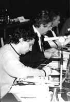 Giovanni Negri, Massimo Teodori e Bruno Zevi.