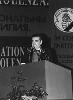 Bruno Zevi alla tribuna del 34° Congresso.