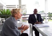 Missione di Nessuno Tocchi Caino. Emma Bonino a colloquio con Joseph Cabila, presidente della Repubblica Democratica del Congo. Altre digitali, sulla