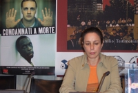 Alina Fernandez, figlia di Fidel Castro, dissidente cubana, alla presentazione del rapporto 2003 sulla pena di morte, curato da Nessuno Tocchi Caino,