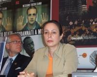 Alina Fernandez, figlia di Fidel Castro, dissidente cubana, alla presentazione del rapporto 2003 sulla pena di morte, curato da Nessuno Tocchi Caino.
