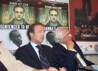 Presentazione del rapporto 2003 di Nessuno Tocchi Caino sulla pena di morte, presso la sede di Torre Argentina. Andrea Ronchi (responsabile per la Pre