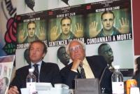 Presentazione del rapporto 2003 sulla pena di morte curato dall'associazione Nessuno Tocchi Caino, presso la sede di Torre Argentina. Andrea Ronchi (r