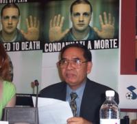 Kok Ksor, presidente della Montagnards Foundation, alle presentazione del rapporto 2003 sulla pena di morte curato dall'associazione Nessuno Tocchi Ca