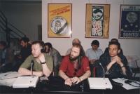 Ivanov (ucraina), Andreij Kuzin (Russia), Andreij Roshin (Russia), presso la sede di Torre Argentina
