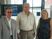 Meeting all'Accademia Europea. Gunther Rautz (direttore), Oumar Khanbiev (ministro della sanità del governo ceceno), Alessandra Zendron (presidente de