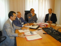 Incontro fra Otto Saurer - assessore alla Sanità alla provincia autonoma di Bolzano - (terzo da sinistra) e Oumar Khanbiev (ministro della Sanità del