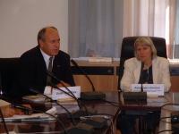 Incontro fra Umar Khanbiev e Alessandra Zendron (presidente della Provincia autonoma di Bolzano).