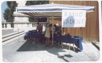 Postazione di Radio Radicale in Campidoglio, in occasione della cerimonia di restituzione simbolica ai cittadini del finanziamento pubblico ai partiti