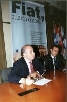 """Enrico Cisnetto (giornalista e scrittore) e Benedetto Della Vedova partecipano al convegno alla Sala delle Bandiere """"FIAT QUANTO CI COSTI?  LA RISTRUT"""