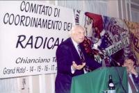 Comitato di coordinamento dei radicali. Alla tribuna: Marco Pannella. A destra: Danilo Quinto.