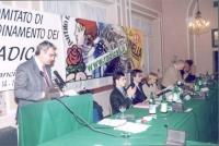 Comitato di coordinamento dei radicali. Alla tribuna: Danilo Quinto. A destra, Daniele Capezzone, Maurizio Turco, Emma Bonino, Sergio Stanzani, Marco