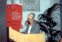 Carla Del Ponte parla alla tribuna, in occasione della celebrazione del V anniversario dell'adozione dello Statuto di Roma della Corte Penale Internaz