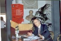 Giovanni Conso interviene in occasione della celebrazione del V anniversario dell'adozione dello Statuto di Roma della Corte Penale Internazionale, pr