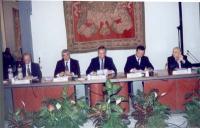 Vincenzo Conso, Pierferdinando Casini, Walter Veltroni, Franco Frattini, Sergio Stanzani, partecipano alla celebrazione del V anniversario dell'adozio