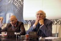 Conferenza stampa di Marco Pannella e dell'avvocato Giuseppe Rossodivita, sul caso Sofri.