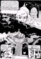 """Vignetta di Andrea Pazienza. Un personaggio afferma: """"Vladimiro era allora leader dei marxisti leninisti di Pesca, ed io ero un'amichetto di """"servire"""
