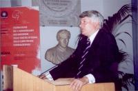 Jeoffrey Robertson, interviene alla celebrazione del V anniversario dell'adozione dello Statuto di Roma della Corte Penale Internazionale, presso la S