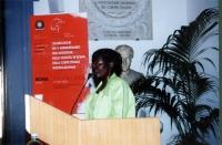 Akua Kuenyehia, Vice Presidente della CPI, interviene alla celebrazione del V anniversario dell'adozione dello Statuto di Roma della Corte Penale Inte