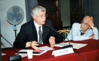 Giovanni Kessler, senatore. (Celebrazione del V anniversario dell'adozione dello Statuto di Roma della Corte Penale Internazionale, presso la Sala del