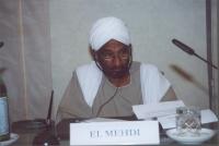 Sadek el Mehdi, Former Prime Minister, Sudan (in occasione della tavola rotonda, promossa da No Peace Without Justice, in collaborazione con il minist