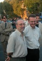 Pepe Rodriguez, scrittore e giornalista, e  Alejandro Torres, docente di Diritto ecclesiastico dello Stato della Univesidad de Navarra, assistono al c