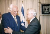 Incontro tra Marco Pannella e Moshe' Katsav, presidente dello Stato di Israele, (nell'ambito di una missione di una delegazione radicale in Israele).