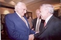 Incontro di Marco Pannella con il presidente dello Stato di Israele Moshe' Katsav (nell'ambito di una missione di una delegazione radicale in Israele)