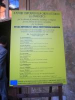 """Manifesto del convegno """"Il potere temporale della Chiesa 133 anni dopo"""", presso la Sala del Cenacolo (Camera dei Deputati)."""