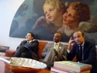 Missione di Nessuno Tocchi Caino al Parlamento Europeo. Romano Prodi, Leroy Orange (già condannato a morte negli USA).