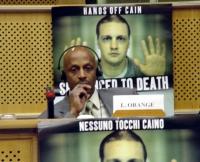 Missione di Nessuno Tocchi Caino al Parlamento Europeo Leroy Orange, già condannato a morte negli USA.
