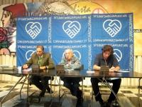 Conferenza stampa presso la sede di Torre Argentina, a 9 giorni di digiuno del segretario dell'Associazione Radicale Esperantista (ERA) Giorgio Pagano