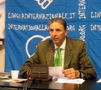 """Giorgio Pagano, segretario dell'Associazione Radicale """"Esperanto"""" (ERA), a 9 giorni di digiuno, nel corso di una conferenza stampa presso la sede di T"""
