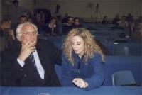 Marco Pannella e Debora Cianfanelli (militante radicale).