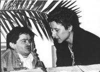 ritratto di Fausto Minotti (militante radicale) e Susanna Piantedosi (BN)