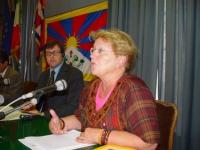 "SEMINARIO EUROPEO ""PER IL TIBET, L'ULTIMA CHANCE?"". Marcelle Roux, Presidente France-Tibet."
