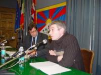 "SEMINARIO EUROPEO ""PER IL TIBET, L'ULTIMA CHANCE?"". Michel Legein, Les Amis du Tibet (Belgio)."