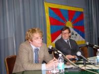 """SEMINARIO EUROPEO """"PER IL TIBET, L'ULTIMA CHANCE?"""". Martin Schultes, Tibet Flag Campain, Bruxelles."""