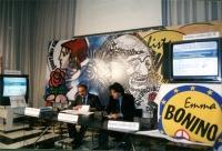 Elezioni on line per l'elezione di alcuni membri del Comitato consultivo. Al tavolo, a destra: Marco Cappato.