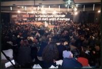 Assemblea dei Mille: vista ampia della platea e del banner.