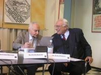 """Filippo Mancuso e Marco Pannella (in occasione del Convegno, presso la sede di Torre Argentina, """"L'AUTOMONITORAGGIO DELLE DEMOCRAZIE OCCIDENTALI  A PA"""