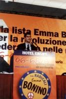 Daniele Capezzone, alla tribuna dell'Assemblea dei radicali in vista della presentazione alle regionali delle liste radicali Emma Bonino, e di una cam