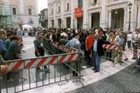 Cerimonia di restituzione simbolica ai cittadini romani del finanziamento pubblico percepito dalla lista Pannella, presso il Campidoglio.