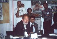 """Presentazione, presso la sede di Torre Argentina, del libro di Daniele Capezzone """"Uno shock radicale per il 21° secolo"""". Nella foto:  Michael Ledeen ("""