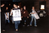 Marcia anticlericale da porta Pia a piazza San Pietro. Fra i manifestanti, ultima a destra: Rita Bernardini.